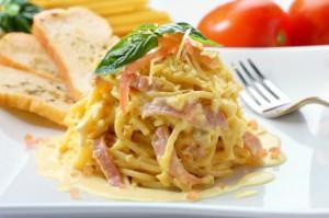 spaghetti sauce blanche