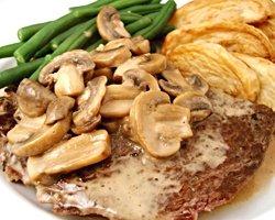 Recette steak champignons et sauce blanche